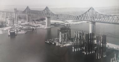 Arhiva de Aur Cuget Liber. Podul Carol I și șantierul noului pod rutier de la Cernavodă - 1983