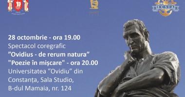 Spectacol de poezie si coregrafie la sala STUDIO a Universității OVIDIUS Constanța
