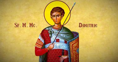 Biserica Ortodoxă îl cinstește pe Sf. Mare Mucenic Dimitrie, Izvorâtorul de Mir