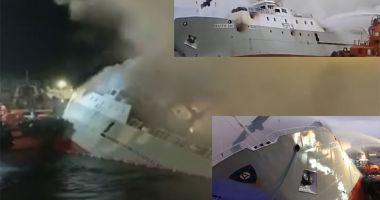 Un trauler britanic s-a scufundat după ce a pompierii au stins incendiul
