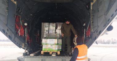 Materiale sanitare din Qatar aduse cu o aeronavă militară