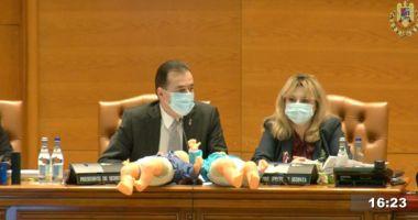 VIDEO / Scandal în Parlament. Parlamentarii PSD au împărţit păpuşi în semn de protest